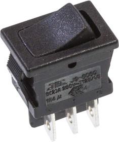 JS-606QB2BBOT-G, переключатель клавишный 2xON-ON 250B 10A (аналог R13-66)