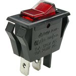 IRS-1-2B (красный), Выключатель с лампочкой ON-OFF(250В 10А) ...