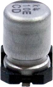 Фото 1/3 UCD1E100MCL1GS, SMD конденсатор 10мкФ 25В 20% 105С 4х5.8мм Low Imp