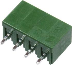 ME040-381-04P, клеммник на плату прямой шаг 3.81мм 4 конт.