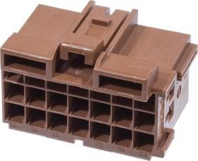1-0967625-1, 1-967625-1, корпус розетки Timer 21 конт, шаг-5мм, коричн.