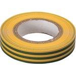 Изолента ПВХ 15мм х 20м желто-зеленая