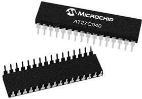 AT27C040-90PU, EPROM OTP 4M-BIT 512KX8 90NS 32-PIN PDIP