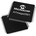 Фото 2/2 ATmega2561-16AU, Микроконтроллер 8-Бит, AVR, 16МГц, 256КБ Flash [TQFP-64]