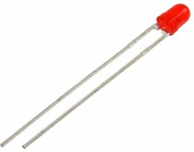 LTL-4261NR, RED LED 3MM DIFFUSED 638NM 60MCD 60DEG
