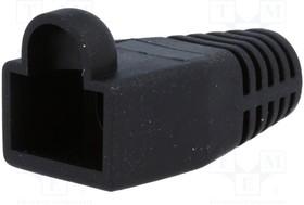 795-601302, Корпус вилки RJ45; 6мм; Цвет: черный