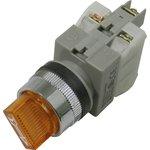 CA25-SS211N, Переключатель желтый c подсветкой Ф25