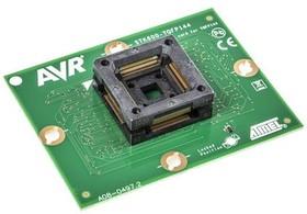 ATSTK600-TQFP144 (ATSTK600-SC19), Дочерний модуль с ZIF-сокетом под корпус TQFP144 для ATSTK600