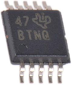 DAC7563TDGST, DUAL 12-BIT DAC, 2.5V REF, RESET VSSOP10