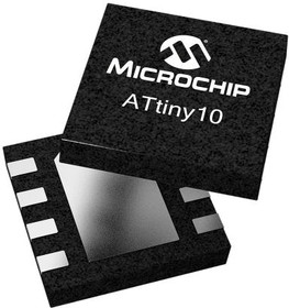 ATTINY10-MAHR, MCU 8-bit ATtiny AVR RISC 1KB Flash 2.5V/3.3V/5V 8-Pin USON EP