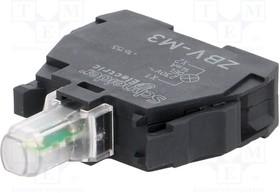 Блок сигнальный светодиодный зеленый 220В винт