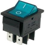 IRS-202-2B3 (синий), Переключатель с подсветкой ON-ON (15A 250VAC) DPDT 6P