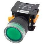 NP2-EW3365 230V LED, Кнопка без фиксации зеленая с ...