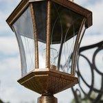 Фото 7/9 GLXT-1450F / Светильник садово-парковый Virgo F черное золото