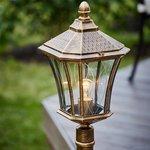 Фото 9/9 GLXT-1450F / Светильник садово-парковый Virgo F черное золото
