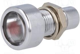 AMLD0802, Индикат.лампа: LED; выпуклый; Отв: ø8,2мм; IP67; латунь