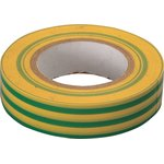 Изолента ПВХ 19мм х 20м жёлто-зелёная