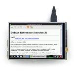Фото 5/8 4inch RPi LCD (A), IPS дисплей 320×480px с резистивной сенсорной панелью для Raspberry Pi