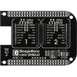 MIKROE-1596, BeagleBone click shield, Плата расширения для подключения модулей mikroElektronika серии click (mikroBUS) к BeagleBone
