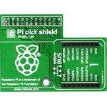 MIKROE-1513, Pi click shield - connectors soldered, Плата расширения для подключения модулей mikroElektronika серии click (mikroBUS) к Raspb