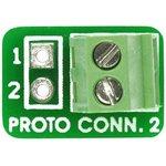 MIKROE-320, PROTO Connect 2 Board, Клеммник 2-пин для ...