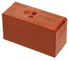 RT424024 6-1393243-8, PCB RELAY DPDT 8A 24VDC AGNI