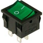 MIRS-201A-4C3 (зеленый), Переключатель с подсветкой ON-OFF ...