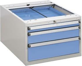 61107001, Drawer unit 55/37-1 blue