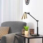 Фото 2/5 TL70100 / Светильник светодиодный настольный Fabula сатинированное золото