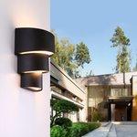 Фото 2/6 1535 TECHNO LED / Светильник садово-парковый со светодиодами HELIX черный