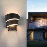 Фото 3/6 1535 TECHNO LED / Светильник садово-парковый со светодиодами HELIX черный
