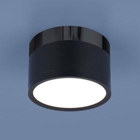 Фото 1/2 DLR029 10W 4200K / Светильник светодиодный стационарный черный матовый/черный хром