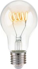 Фото 1/4 Classic FD 6W 4200K E27/ Светодиодная лампа A60 спираль прозрачный