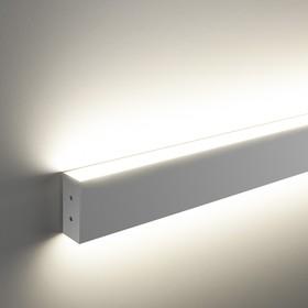 Фото 1/6 101-100-40-78 / Линейный светодиодный накладной двусторонний светильник 78см 30W 3000K матовое серебро