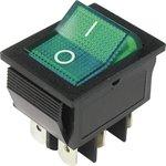 IRS-202-2B3 (зеленый), Переключатель с подсветкой ON-ON (15A 250VAC) DPDT 6P