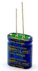 VEC6R0155QG I, 1.5 Ф, 6 В, 8.5×17×22, Ионистор