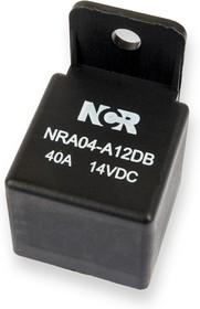Фото 1/2 NRA-04-A-12D-B, Реле 1 зам. 12V / 40A, 14VDC с кронштейном