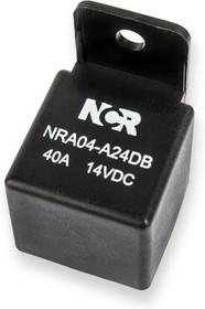 Фото 1/2 NRA-04-A-24D-B, Реле 1 зам. 24V / 40A, 14VDC с кронштейном