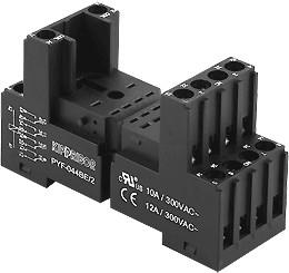 PYF-044BE/2, Монтажная колодка для серии RP 2-ярусная с винтовыми контактами | купить в розницу и оптом