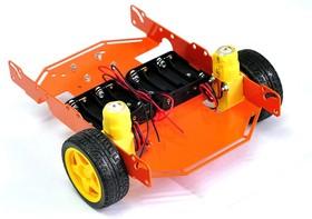 Фото 1/2 ШРЭК-3.1, Металлическое шасси для построения мобильных роботов, 3-х колесное