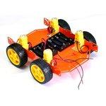 ШРЭК-4.1, Металлическое шасси для построения мобильных роботов, 4-х колесное
