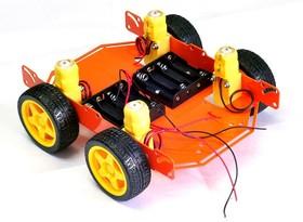Фото 1/2 ШРЭК-4.1, Металлическое шасси для построения мобильных роботов, 4-х колесное