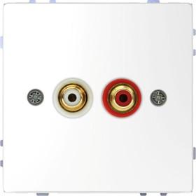Аудиорозетка Merten D-Life с мод. тюльпан SD бел. лотос SchE MTN4350-6035