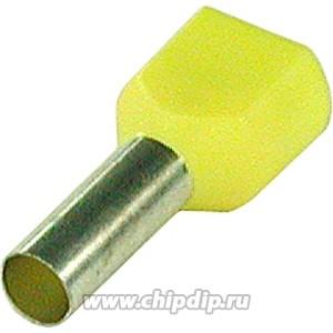 CT260014 (DTE06014), Наконечник для многожильного кабеля желтый