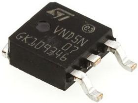 Фото 1/2 VND5N07-E, Интеллектуальный силовой ключ с защитой, OMNIFET II [TO-252 / D-PAK]