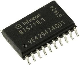 Фото 1/4 BTS711L1XUMA1, Интеллектуальный ключ, SIPMOS, H-Side, 4 выхода [DSO-20]