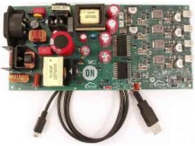 Фото 1/4 STR-USBC-4PORT-200W-EVK, USB AC-DC 4-Port 200W Source USB Evaluation Board for FUSB252, FUSB307, NCP1399 for FUSB252UMX