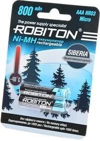 ROBITON SIBERIA 800MHAAA-2 низкотемпературные BL2, Аккумулятор
