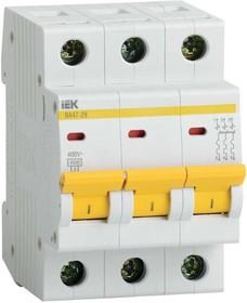 Выключатель автоматический модульный 3п C 13А 4.5кА ВА47-29 ИЭК MVA20-3-013-C