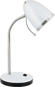 Светильник KD-308 C01 настол. база 230В 40Вт E27 бел. Camelion 11476